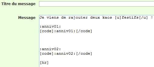 (2199) Balise code incompatible avec codes des émoticônes Smilie11