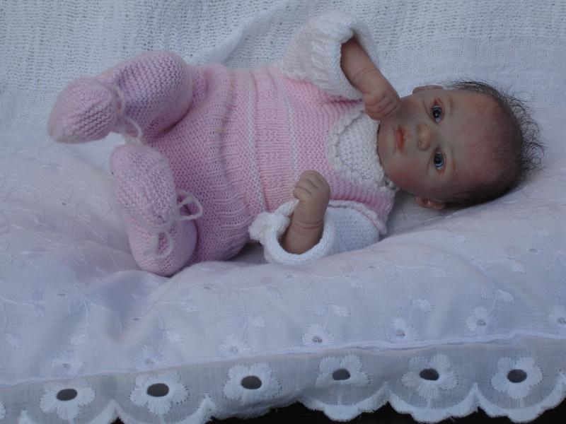 Das Mini -Baby heute im Strampler Dsc02520