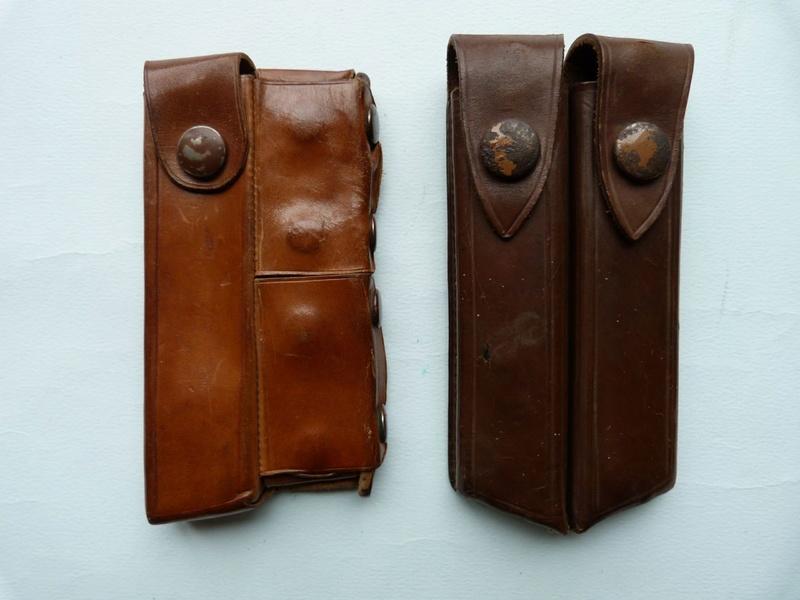 Les pochettes pour loger les chargeurs de rechange de Luger. Pouchs10