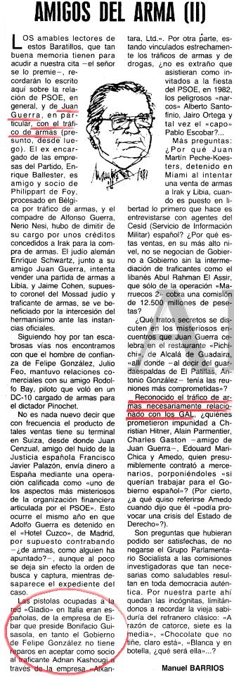 Las cloacas de interior: El PSOE, Los GAL y la masónica P2 Amigos10
