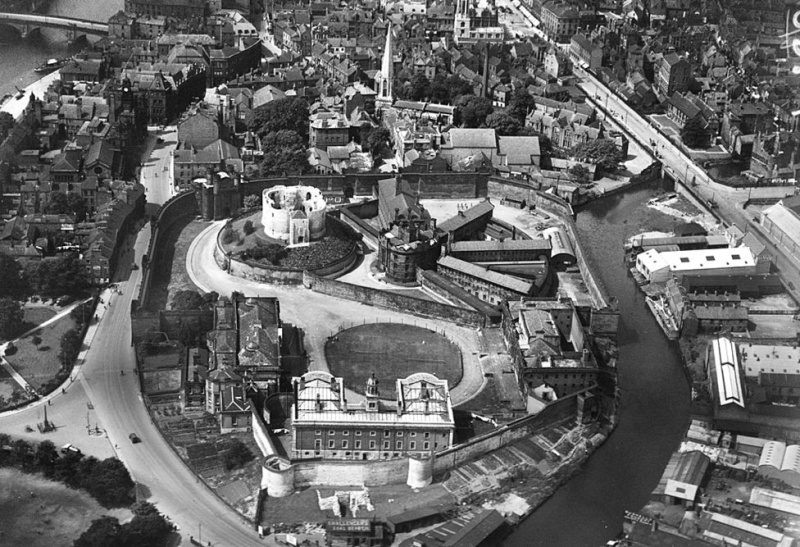1926 photo showing Clifford's Tower and York prison. _8997310