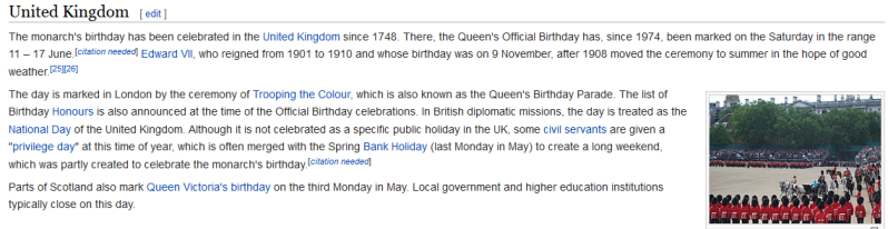 Why the Queen has two birthdays. Captur19