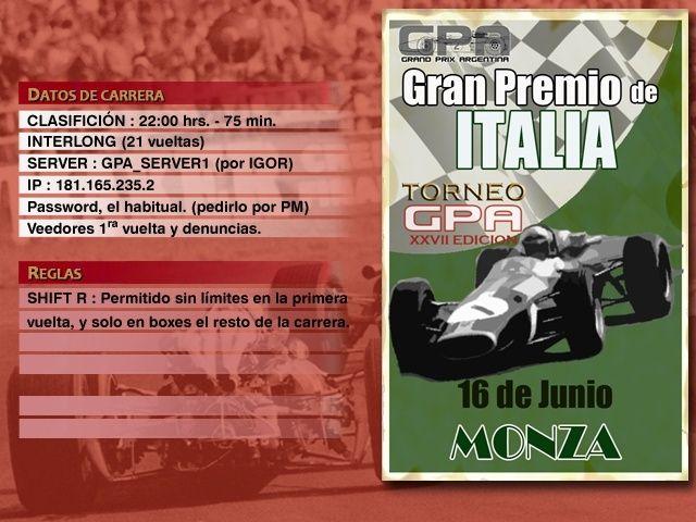 Torneo Edicion XXVII - Monza Anunci11