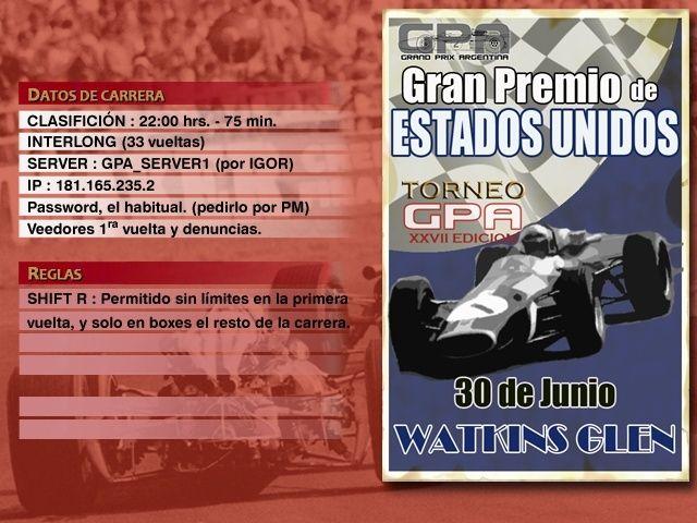 Torneo Edicion XXVII - Watkins Glen Anunci14