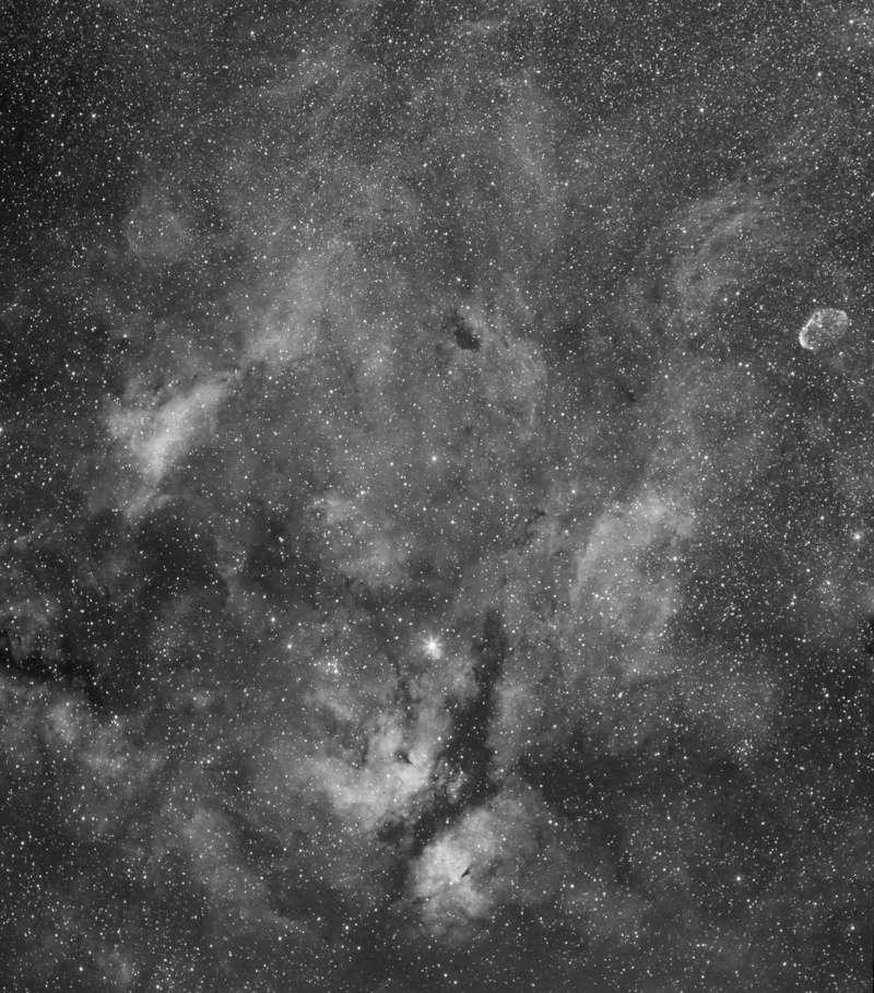 IC1318 et le croissant Ic131816