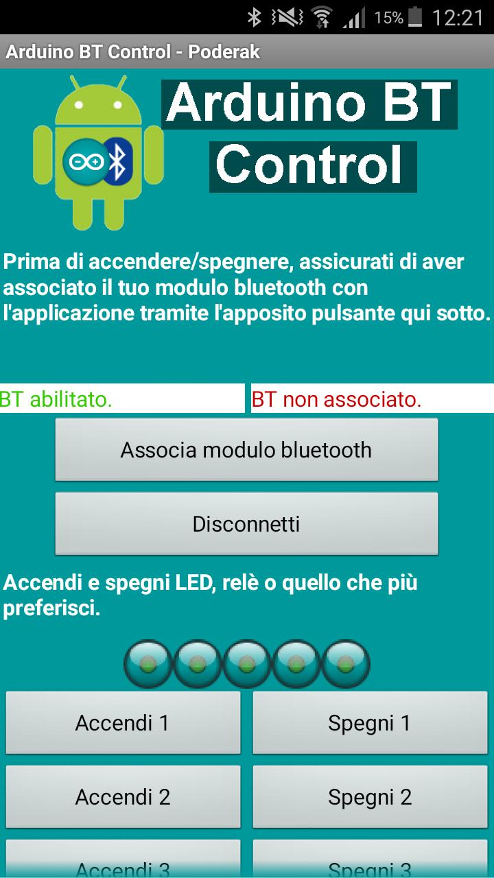 Guida per utilizzare Arduino BT Control v1.1 Screen10