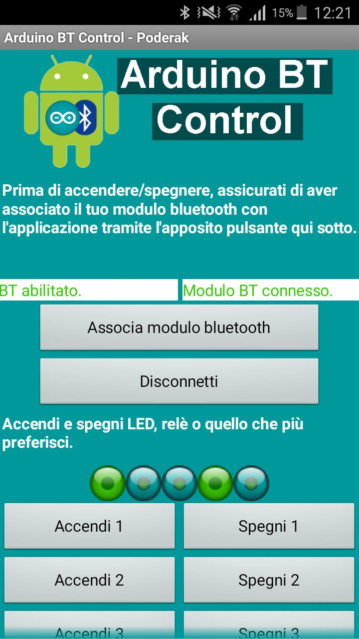 Guida per utilizzare Arduino BT Control v1.1 Screen11