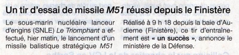 LE TRIOMPHANT (SNLE) - Page 2 Ouest-12