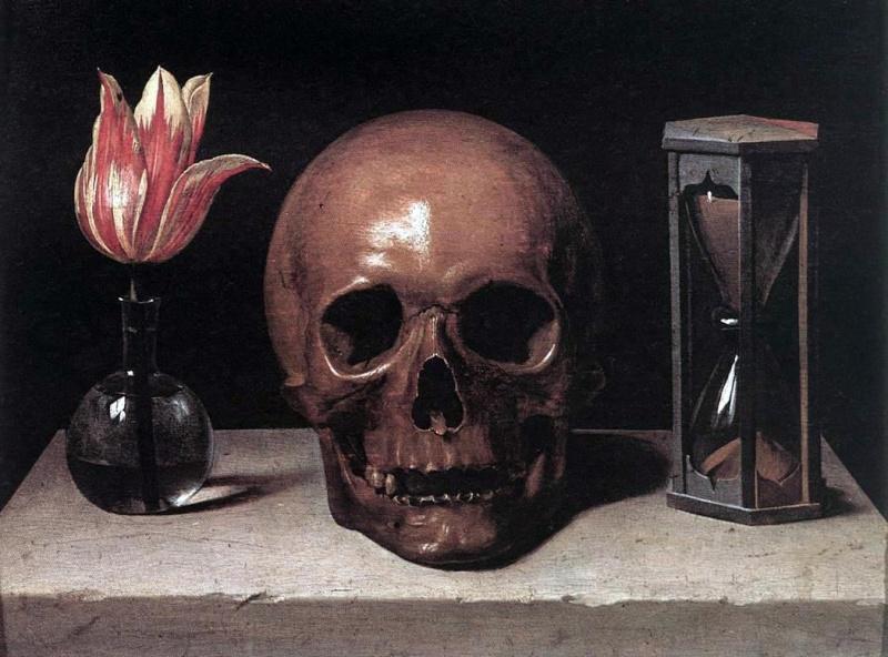 Nature morte aux fleurs, vanité et carpe diem. Philip10