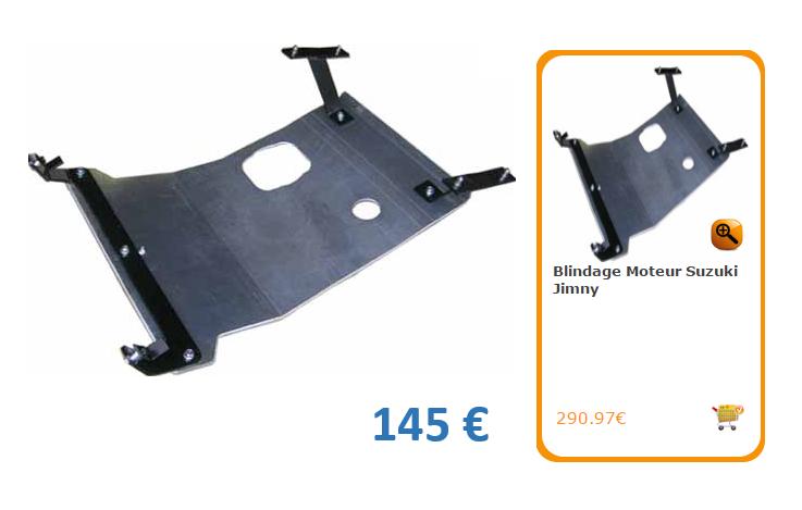 A vendre, blindages  ALUMINIUM  Jimny Moteur et Boite transfert Prix 50% du prix neuf  Blinda10