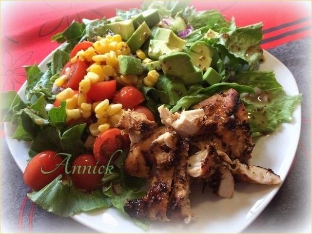 Salade de poulet miel et moutarde Zzcnjk11