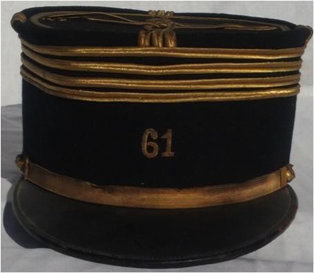 Képis Commandant 61 ème R. d'Artillerie + Képi élève Saint Cyr.- ESC 1 Vendu Kypi_c10