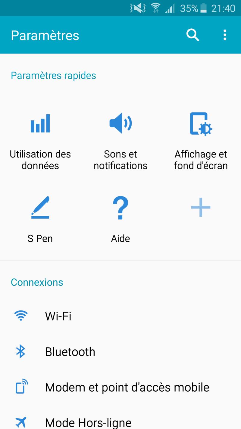 Rom NOTE4 VS S7 (BALOO30310) En Ligne !! Screen18