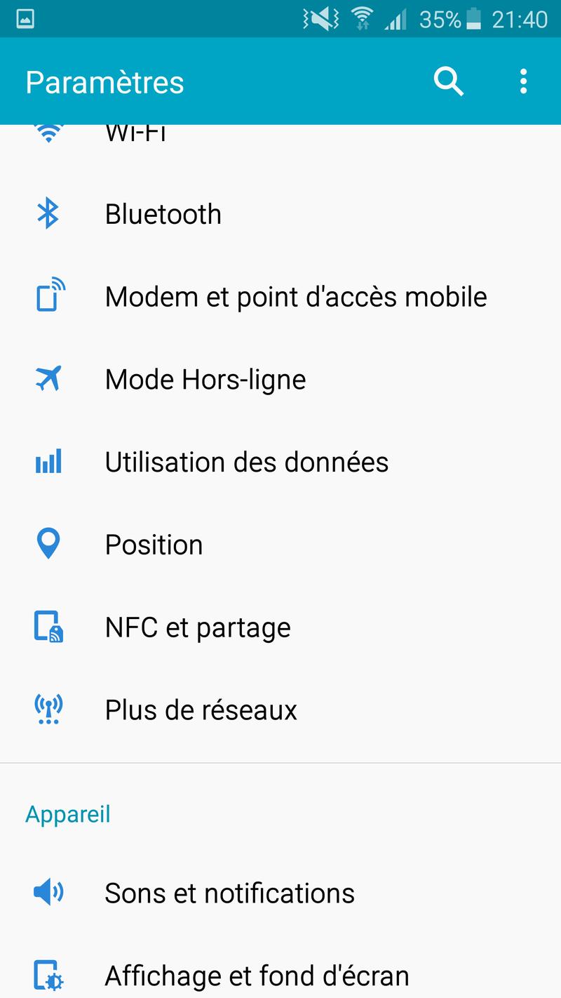 Rom NOTE4 VS S7 (BALOO30310) En Ligne !! Screen40