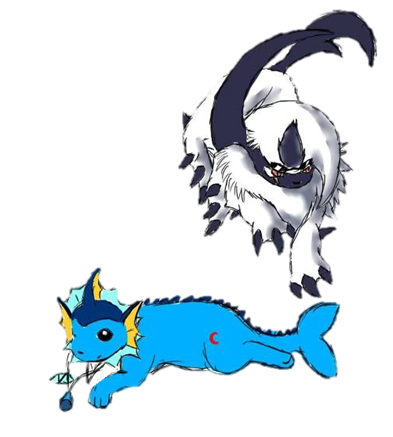 Spirit the Modest Absol and Annick the Calm Vaporeon (Mountain, Johto) Pictur20