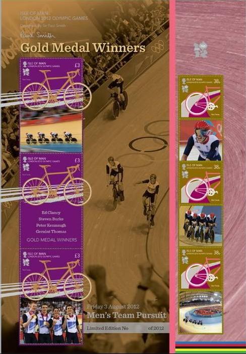 Timbres (Ile de Man) - Les champions olympiques (cyclisme sur piste) Ile_ma10