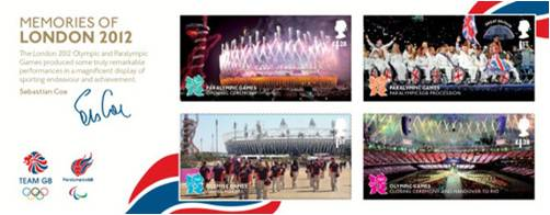 Timbres (Royaume-Uni) - Ultime série de 4 timbres célébrant les Jeux de Londres 2012 Image_10