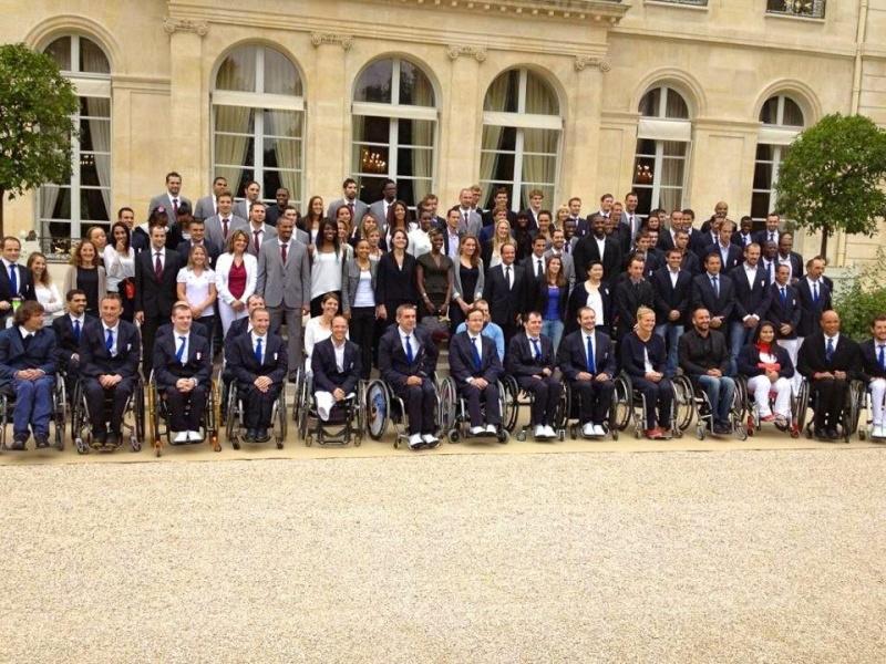 Les médaillés français des Jeux de Londres à l'Elysée Medail10