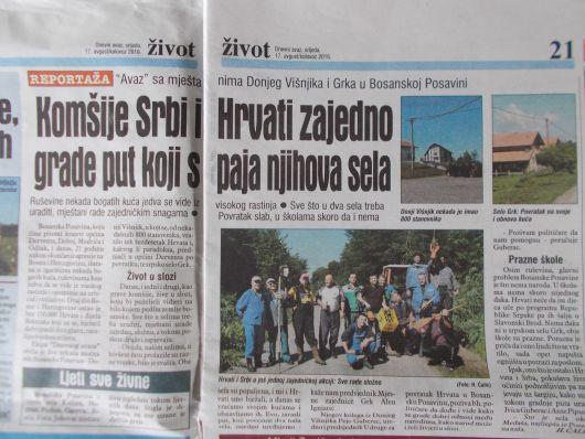 Donji Višnjik u Dnevnom Avazu Avaz11