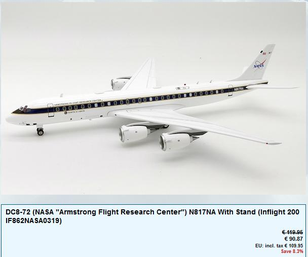 Avions NASA de chez Inflight 200 Dc-8-110