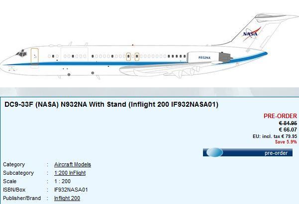 Avions NASA de chez Inflight 200 Dc-910