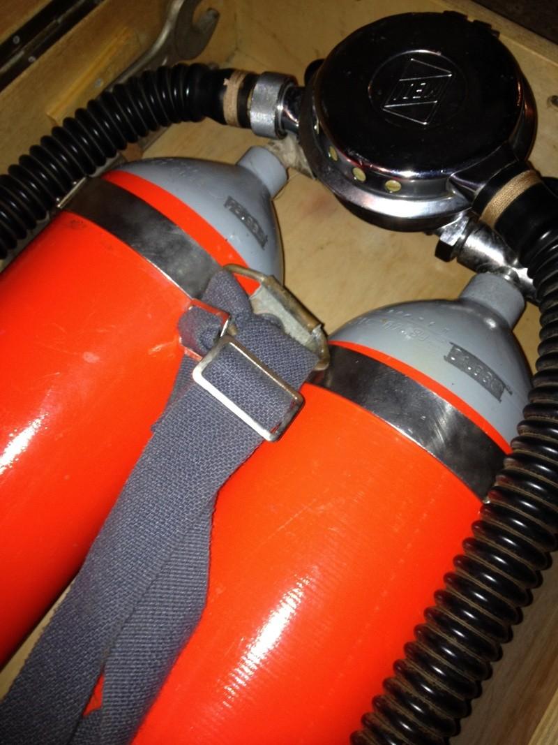 """Druckluft-Tauchergerät """"Hydromat - 62025"""", zwei 7-l-Druckluftflaschen Img_2713"""
