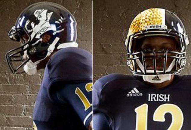 Notre Dame Uniform/Helmet Notre-12