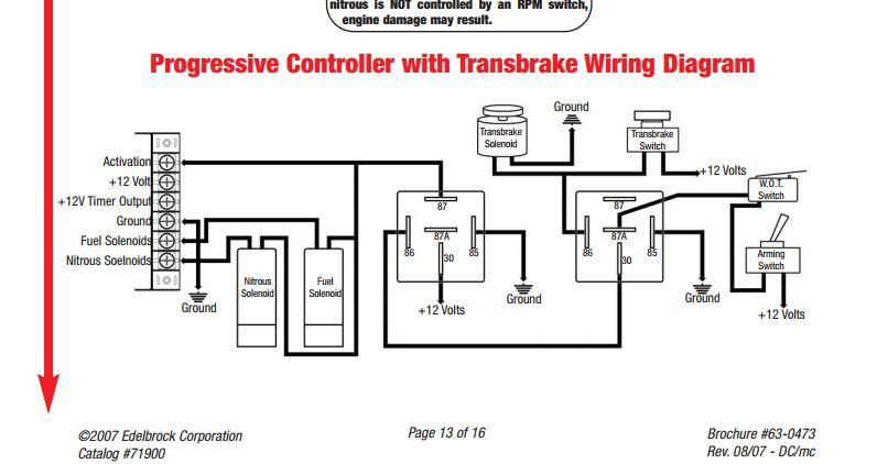 nitrous wiring diagram with transbrake Design Library