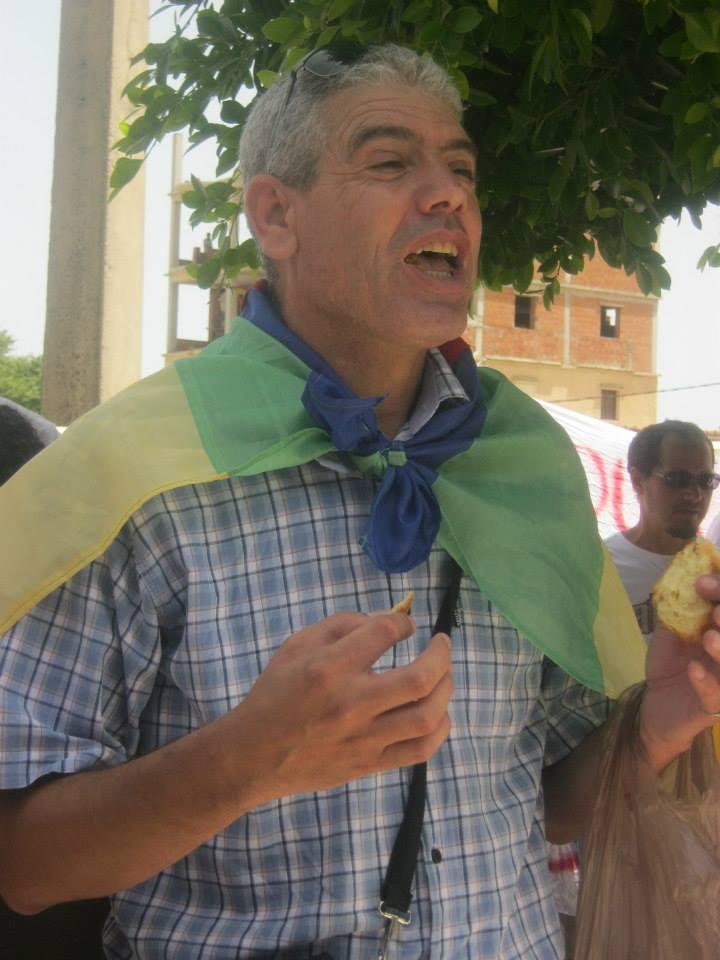 Slimane Bouhas à Aokas lors de la marche contre l'inquisition pour la liberté de conscience 05 Juillet 2014  Sliman10