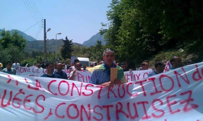 Slimane Bouhas à Aokas lors de la marche contre l'inquisition pour la liberté de conscience 05 Juillet 2014  Sliman11