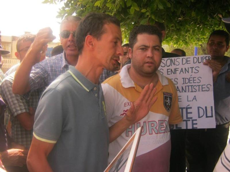 Slimane Bouhas à Aokas lors de la marche contre l'inquisition pour la liberté de conscience 05 Juillet 2014  Sliman13