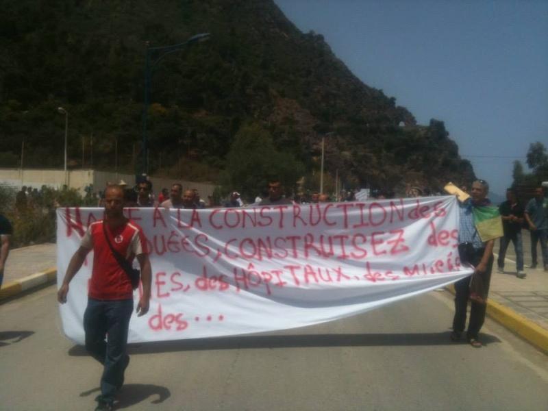 Slimane Bouhas à Aokas lors de la marche contre l'inquisition pour la liberté de conscience 05 Juillet 2014  Sliman18