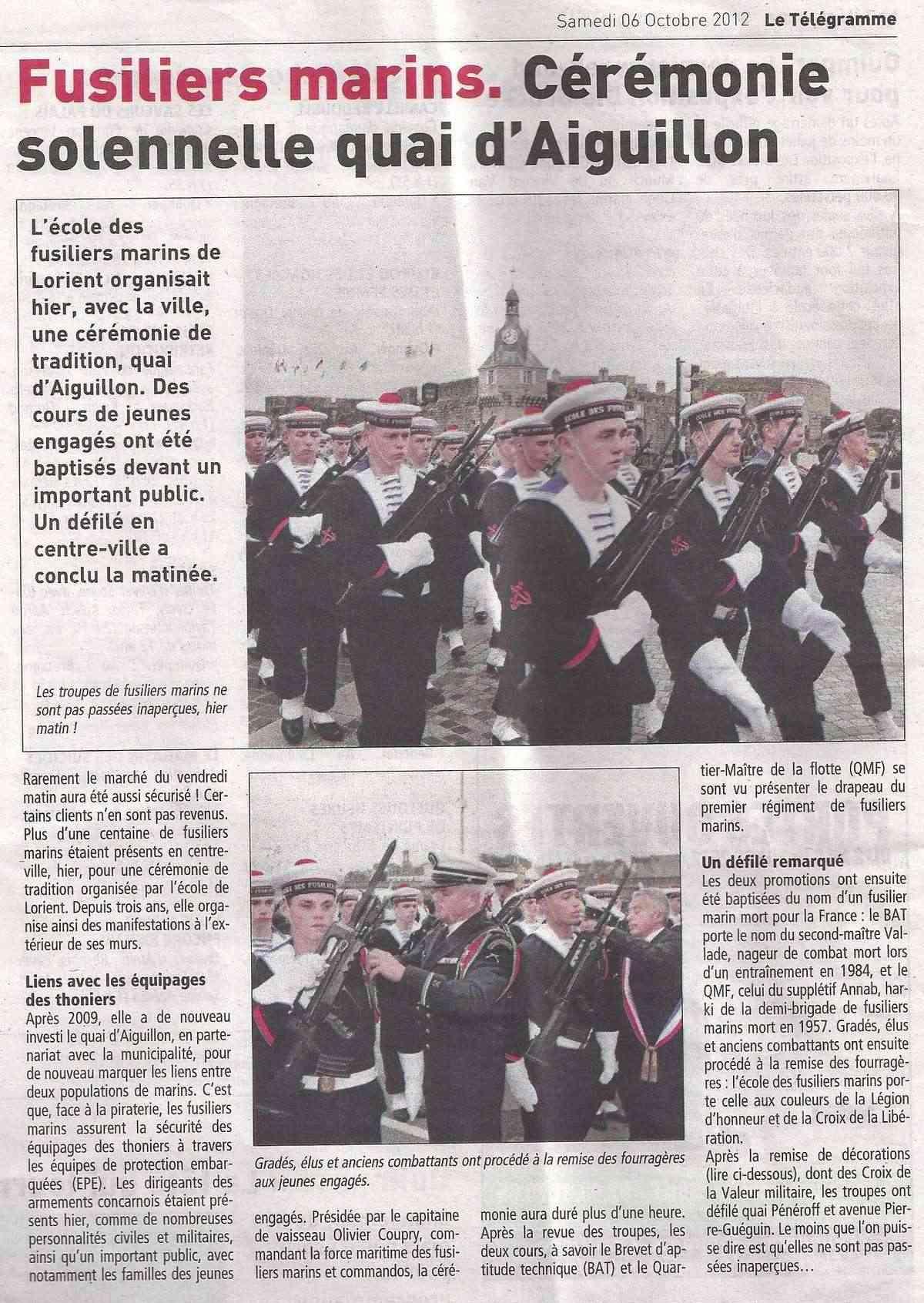Reportage cérémonie de tradition Ecole des fusiliers à Concarneau Scan0139