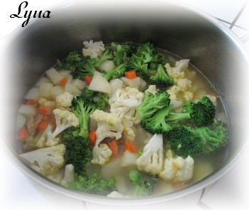 Chowder de chou-fleur, brocoli et cheddar Chowde10