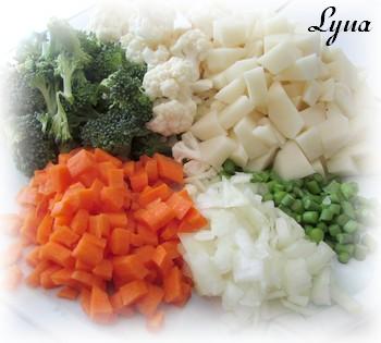 Chowder de chou-fleur, brocoli et cheddar Chowde11