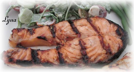 Darnes de saumon sur bbq Darnes11