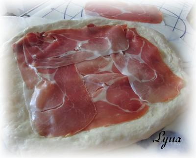 Focaccia au fromage et prosciutto Foccac12