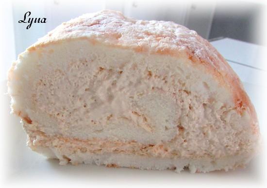 Gâteau des anges roulé, mousse de dulce de leche Gyteau19