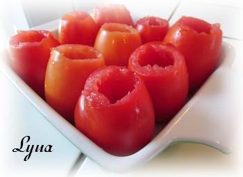 Tomates farcies, confites au four Tomate10