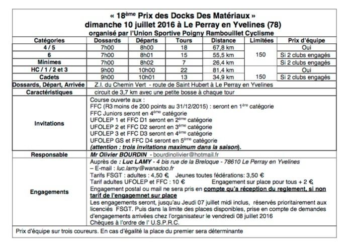 Course vélo FSGT - Le Perray en Yvelines - Dim 10 juil 2016 Captur12