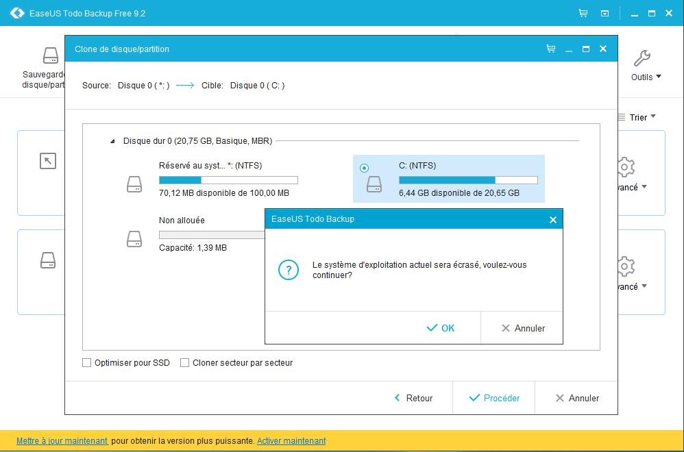 Easeus ToDo Backup Free : sauvegarder ses données importantes Clone10