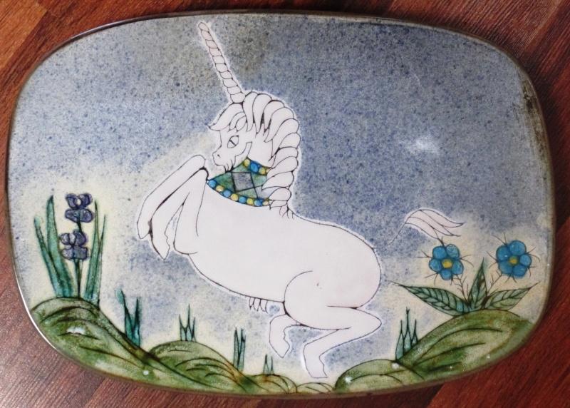 Chelsea style Unicorn platter...Audrey Durnan  00210