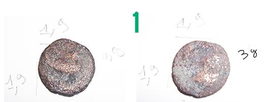 Aide pour identification de 4 pièces fortement ternies 110