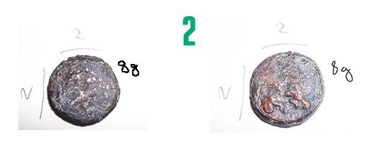 Aide pour identification de 4 pièces fortement ternies 210