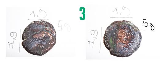 Aide pour identification de 4 pièces fortement ternies 310