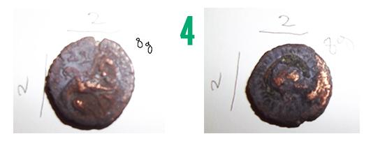 Aide pour identification de 4 pièces fortement ternies 410