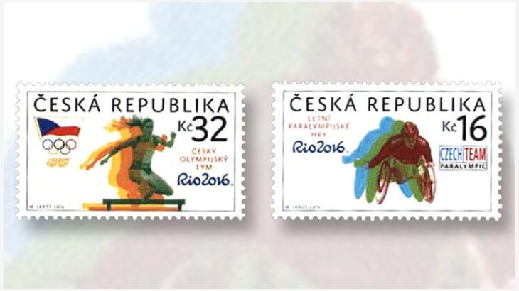 Timbres (République Tchèque) - Jeux Olympiques et Paralympiques Rio 2016 (Athlétisme) Czech-10