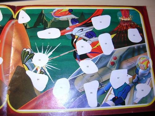 ALBUM ATLAS UFO ROBOT GOLDRAKE NUOVA SERIE edizioni EDIERRE INCOMPLETO  Edierr16