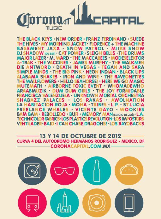 """10/13/12 – Mexico City, Mexico, Autodromo Hermanos Rodriguez, """"Corona Capital Music Festival"""" Corona10"""