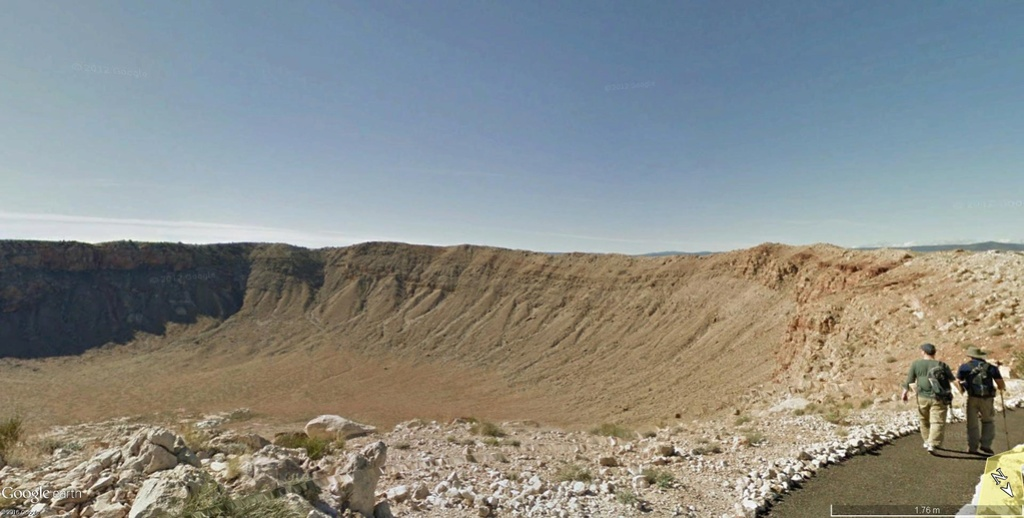 STREET VIEW : sentiers, trails & Co Crater10